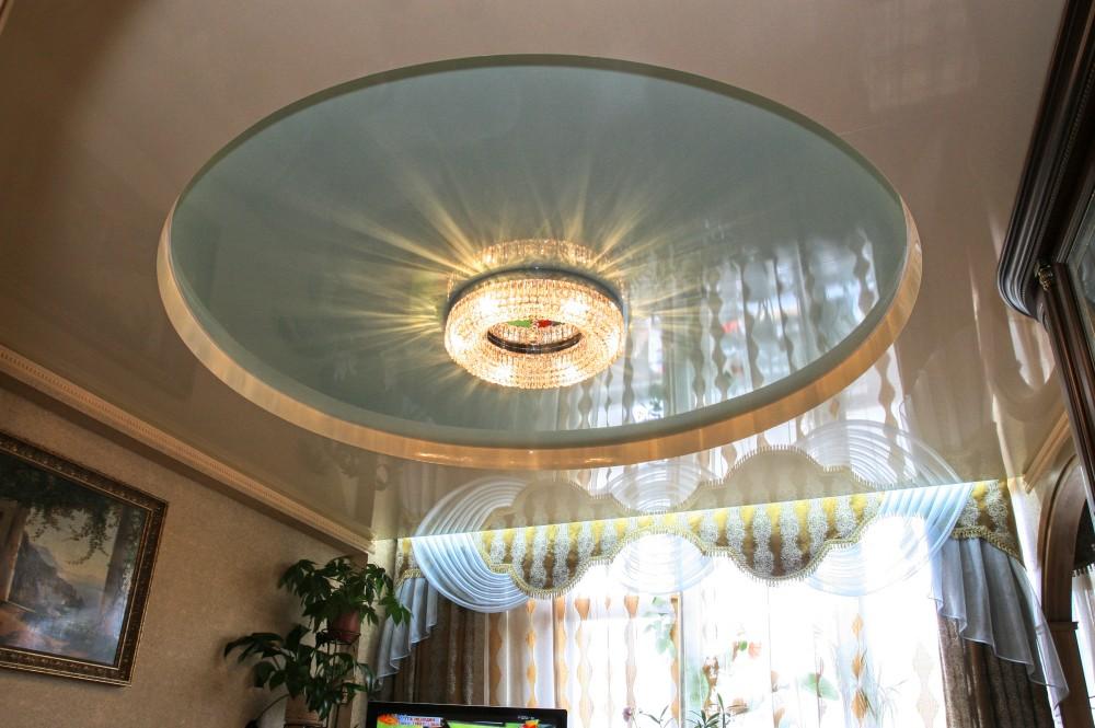 натяжные потолки трехуровневые круг фото отметить, что прорисовывать
